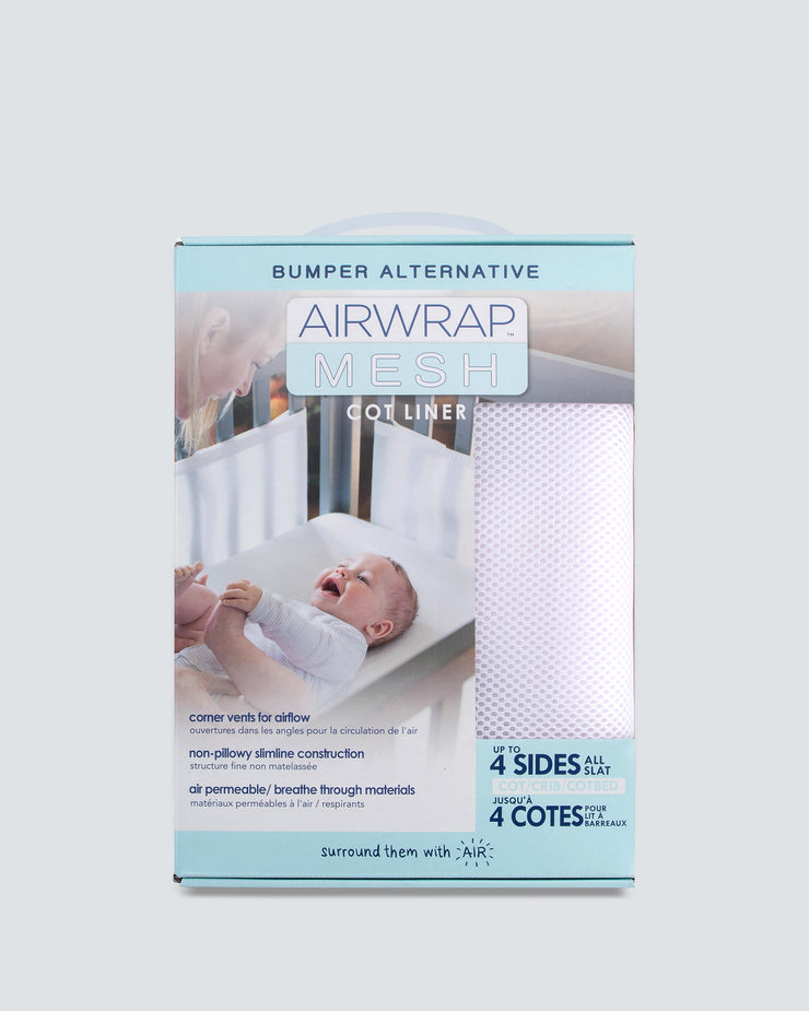 Airwrap Mesh Cot Liner 4 Sides - White