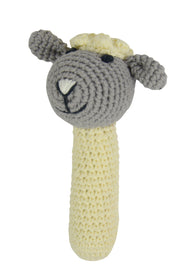 Crochet Rattle - Little Lamb