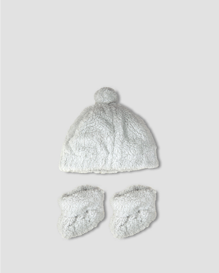 TLLC Sherpa Beanie + Bootie - Drizzle Grey
