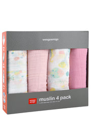 Weego Muslin 4Pk - Mermaid