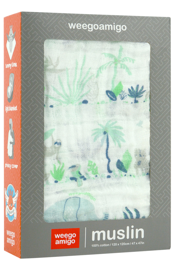 Weego Muslin 1pk Prints - Jungle