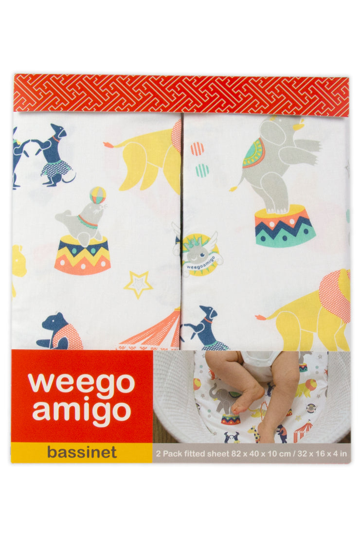 Weego Bass Fitted Sheet - Circus 2pk