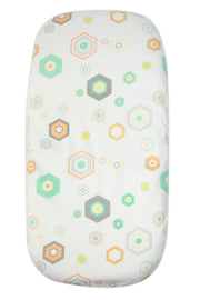 Weego Bass Fitted Sheet - Hexagon 2pk