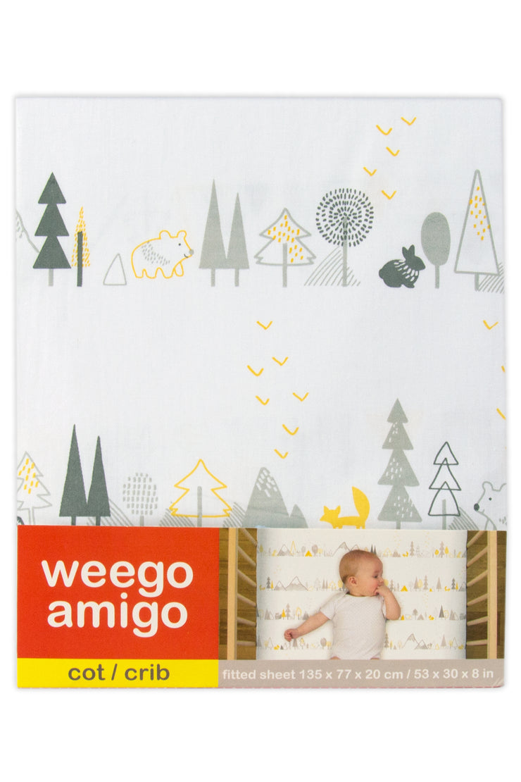 Weego Cot Fitted Sheet - Alpine
