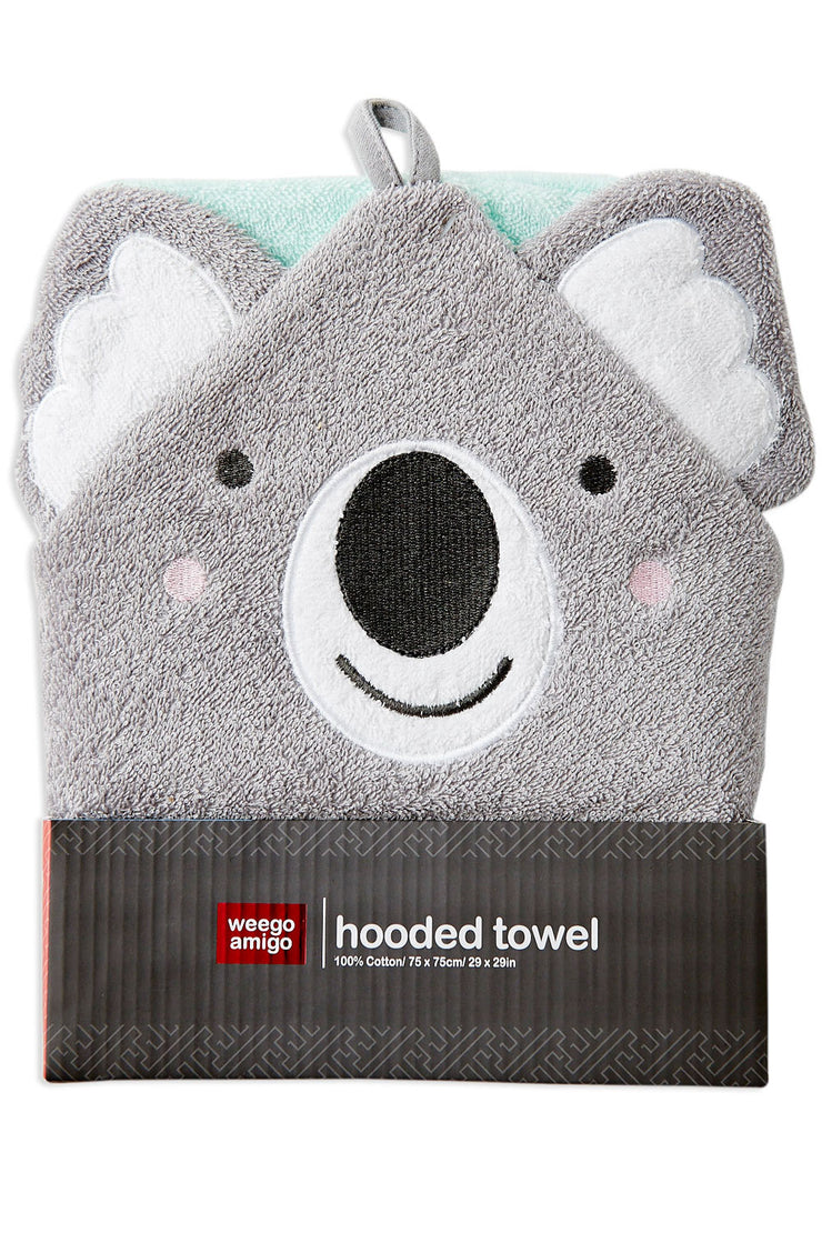 Weego Colourplay Hooded Towel - Koala