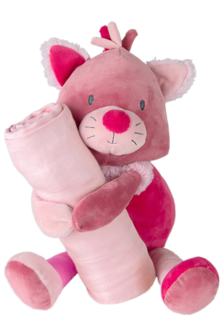 Weego Colourplay Plush Toy + Muslin - Kitten
