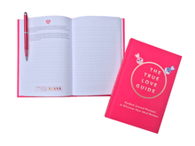 Load image into Gallery viewer, The True Love Guide is a guided journal that helps you discover your ideal partner; including 100+ journal questions, insights, infographics, & more. More romance, less heartbreak; more happy marriages, less stressful divorces.