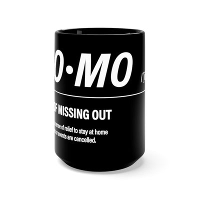 Black JOMO Mug - Homebody Friends