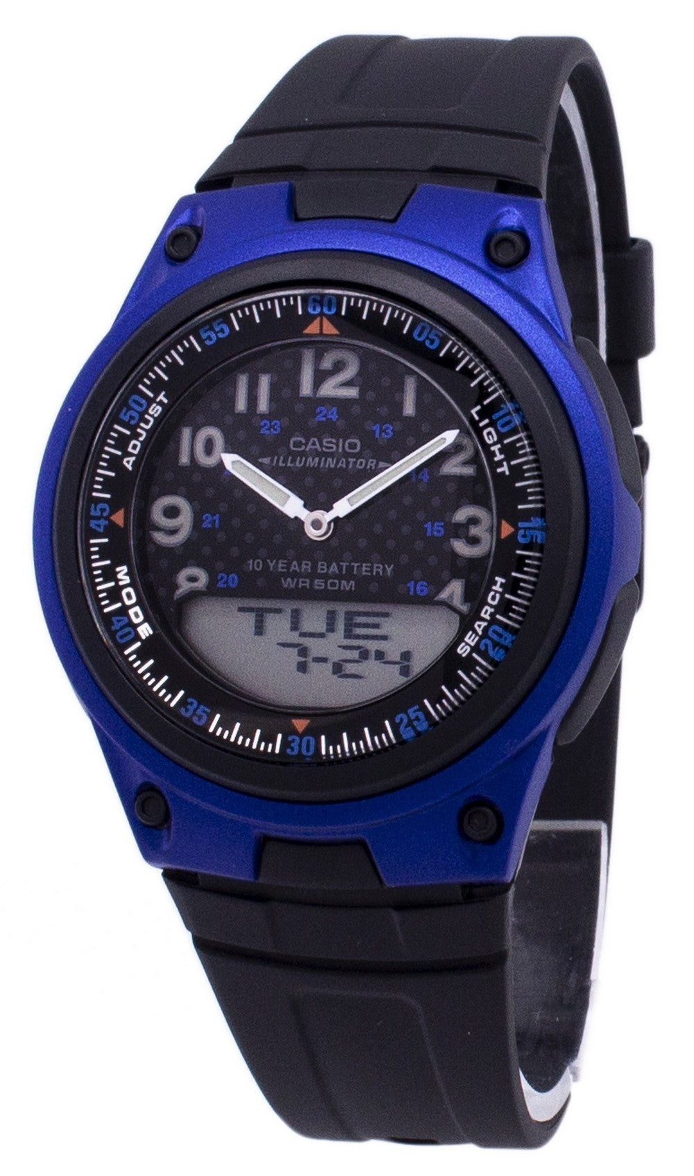 Casio Analog Digital  Illuminator Telememo Black/Blue AW-80-2BVDF AW-80-2BV Men's Watch