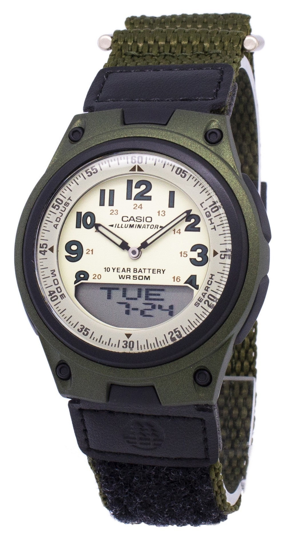 Casio Analog Digital Telememo Illuminator AW-80V-3BVDF AW80V-3BVDF Men's Watch