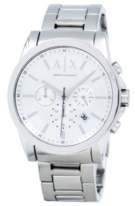 Armani Exchange Chronograph Silver-Tone Dial AX2058 Men's Watch, best prices, cheapest, discount, new, Cruze Watches