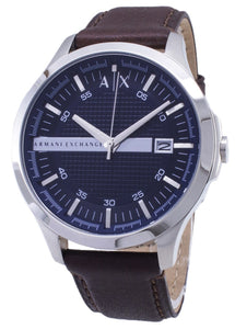 Armani Exchange Quartz Navy Dial Brown Leather Strap AX2133 Men's Watch, best prices, cheapest, discount, new, Cruze Watches