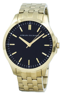 Armani Exchange Quartz Black Dial Gold Tone Stainless Steel AX2145 Men's Watch, best prices, cheapest, discount, new, Cruze Watches