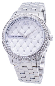 Armani Exchange Lady Hampton Silver Crystals Quilted Dial AX5215 Women's Watch, best prices, cheapest, discount, new, Cruze Watches