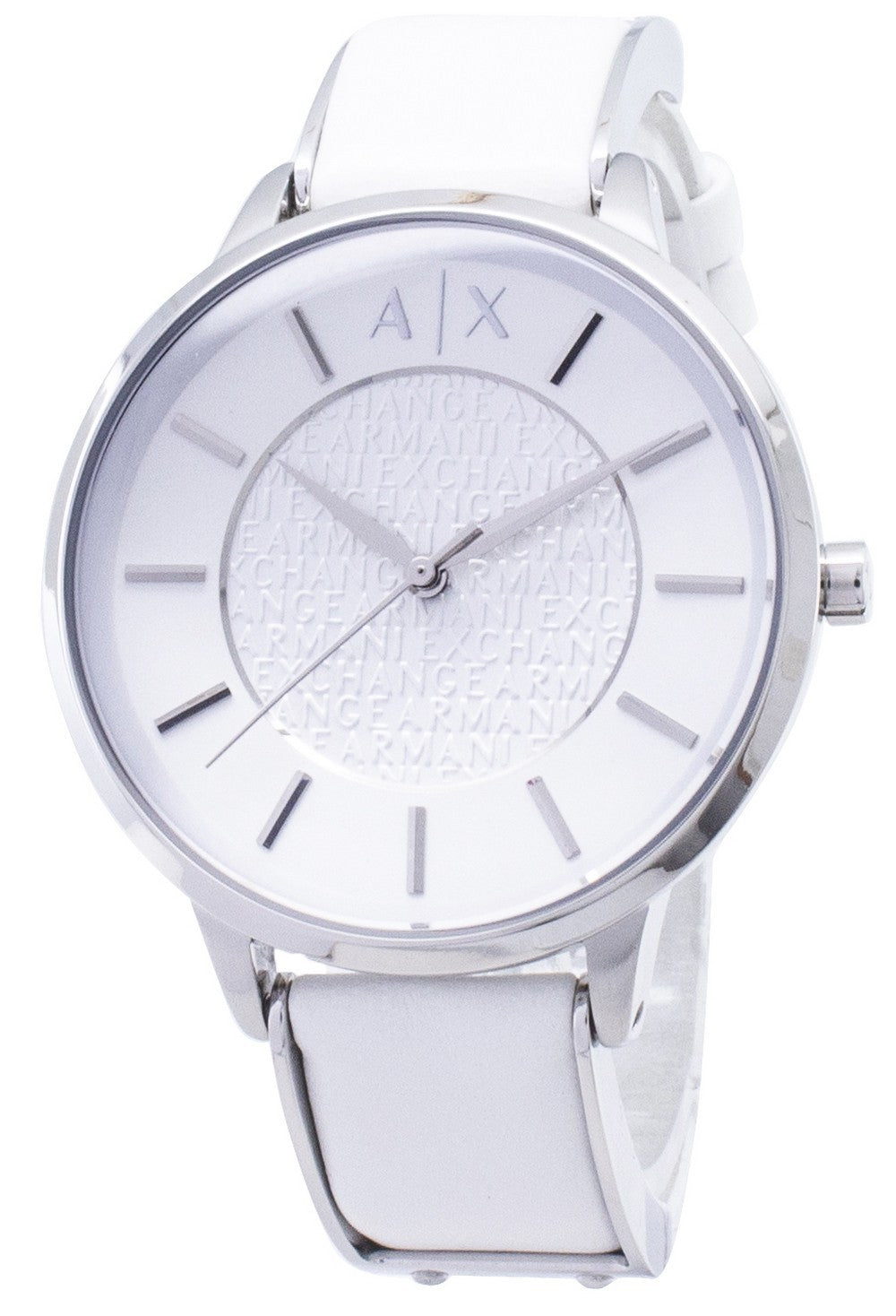 Armani Exchange White Dial White Leather AX5300 Ladies Watch, best prices, cheapest, discount, new, Cruze Watches