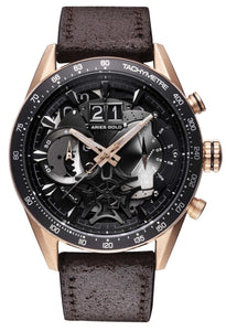 Aries Gold Inspire Jolter Quartz G 7008 RG-BK Men's Watch, best prices, cheapest, discount, new, Cruze Watches
