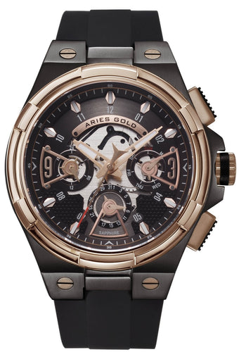 Aries Gold Inspire Lightning Quartz G 7003 BKRG-BKRG Men's Watch, best prices, cheapest, discount, new, Cruze Watches