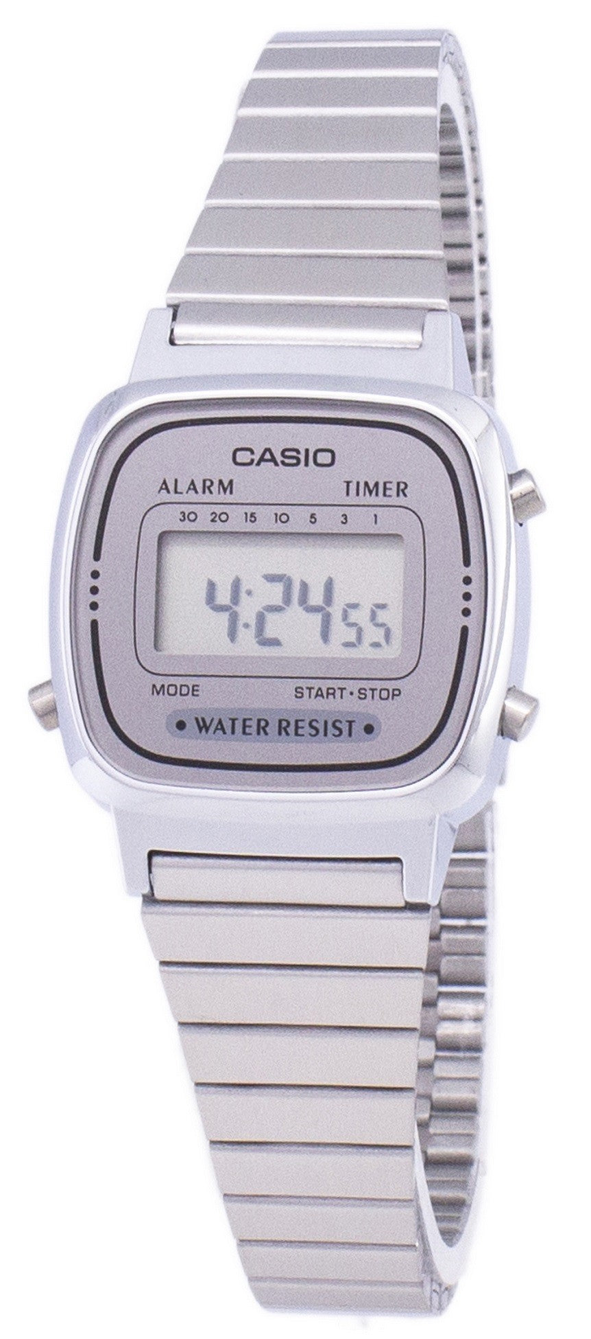 Casio Digital Stainless Steel Alarm Timer LA670WA-7DF LA670WA-7 Women's Watch