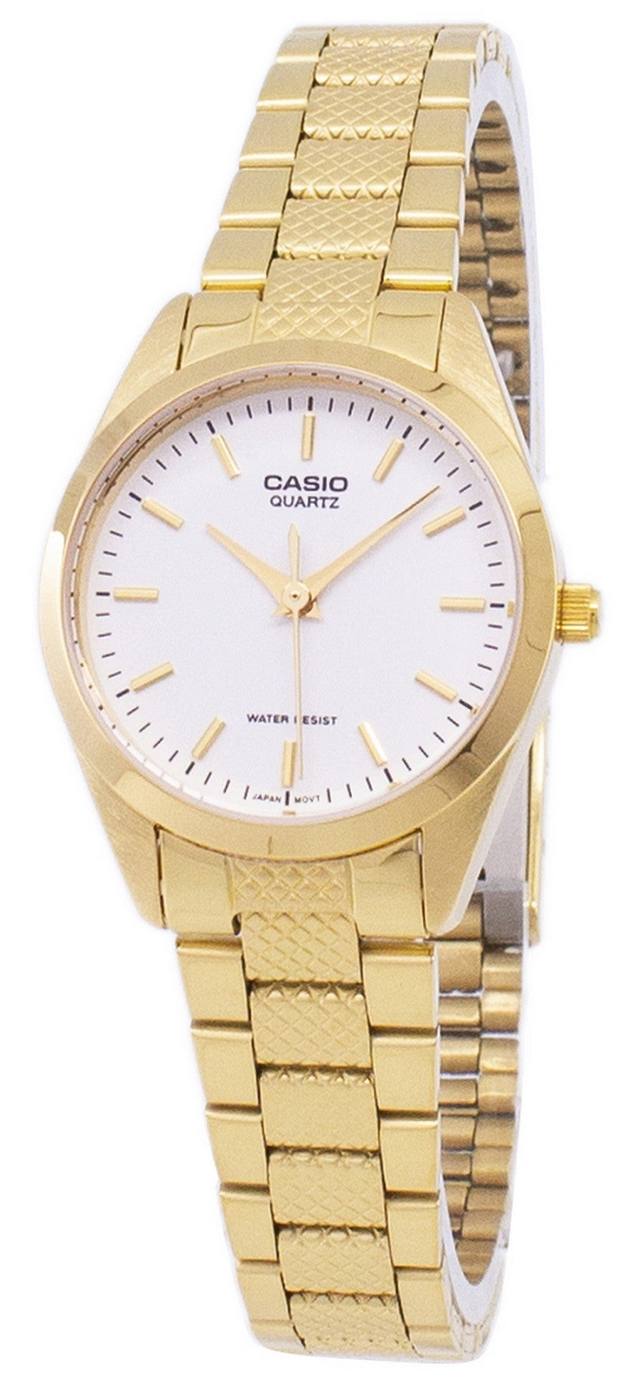 Casio Analog Quartz Gold Tone White Dial LTP-1274G-7ADF LTP-1274G-7A Women's Watch