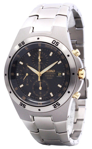 Seiko Titanium Two-tone Chronograph SND451 SND451P1 SND451P Men's Watch