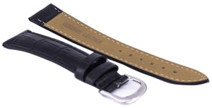 Black Ratio Brand Leather Strap 18mm, best prices, cheapest, discount, new, Cruze Watches