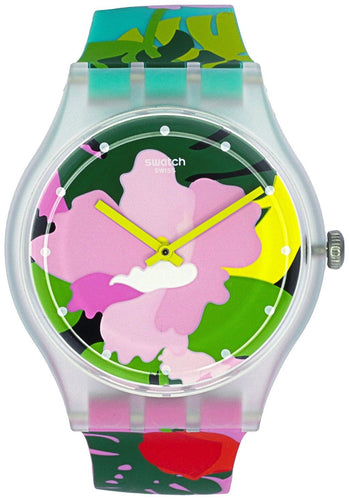 Swatch Originals Tropical Garden Analog Quartz SUOK132 Unisex Watch