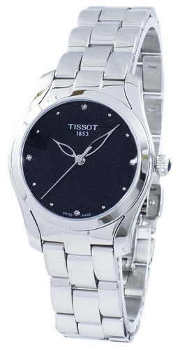 Tissot T-Wave Quartz Diamond Accents T112.210.11.046.00 T1122101104600 Women's Watch