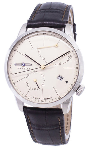 Zeppelin Series Flatline Power Reserve Germany Made 7366-5 73665 Men's Watch