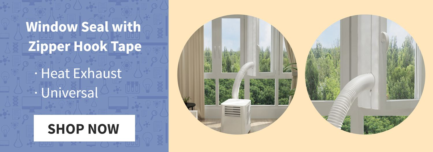 385CM Window Seal Portable Air Conditioner with Zipper Hook Tape