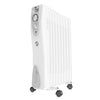 2.5KW 9 Fin Oil Filled Portable Electric Heater丨Famgizmo