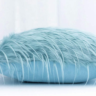 Blue Multi-Size Fluffy Faux Fur Soft Cushion Covers Throw Pillow Case Plush Cushion Covers Decorative Mint