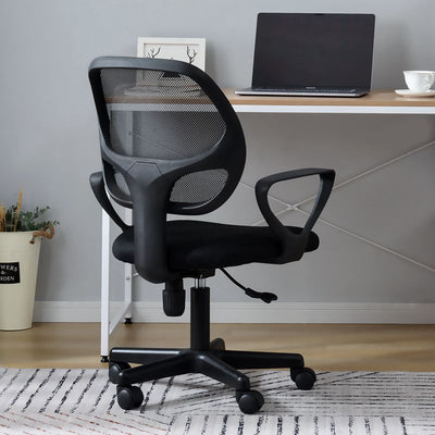 Black Office Chair Essentials Mesh Desk Chair with Torsion Control