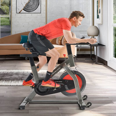 Home Exercise Bike 28.7lbs 13kg Flywheel Cardio Workout Spinning Fitness Bike Lcd Console 4-Way Adjustable Seat & Handlebars