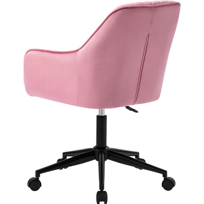 Velvet Desk Chair Office Chair with Arms Luxurious Cushion for Home Office Swivel Chair