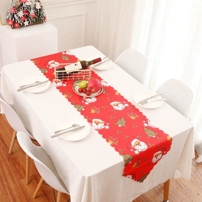 Christmas Printing Polyester Table Runners Home Decoration