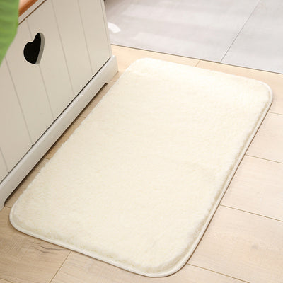 Non Slip Thickened Bath Mat Fluffy Microfiber Bath Rug Floor Mat Quick-drying  Machine Washable