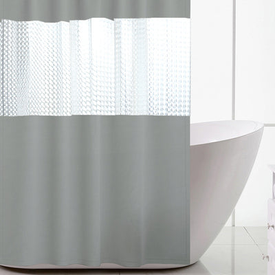 180*200cm Grey Thick Stitching Shower Curtain Bathroom Waterproof Peva Semi-permeable Bath Curtains