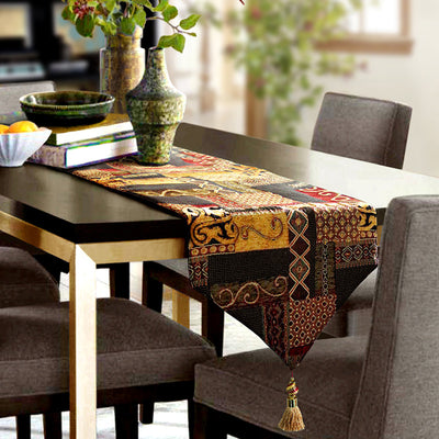 Abstract Handmade Artistic Table Runner Home Decor Dining Table Linens