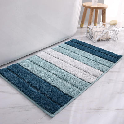 Gradient Stripes Non-slip Bath Mat Kitchen Porch Rug