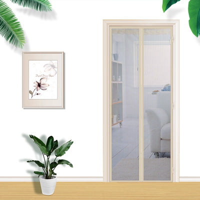 Magnetic Mosquito Curtains Screen Door with Durable Mesh Full Frame Hook and Loop