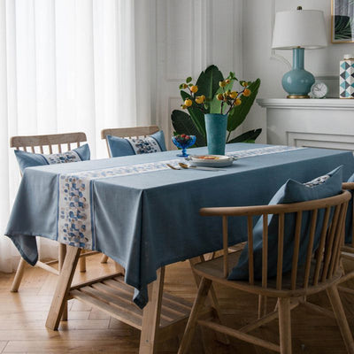 European Classical Style Embroider for Polyester Table Cover for Parties Holiday Dinner Table