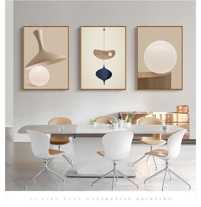 Pearl Mural Nordic Modern Abstract Style Abstract Geometric Series Bedroom Living Room Office