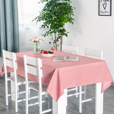 Extra Large Easy Care Cotton Rectangular Simple Fabric Tablecloth Waterproof
