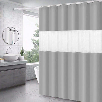 180*200cm White Thick Stitching Shower Curtain Bathroom Waterproof Peva Semi-permeable Bath Curtains