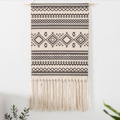 50x70cm Mandala Wall Hanging Tapestry Decorative Tassels Hanging for Bedroom Living Room