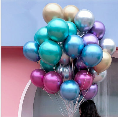 12inch Party Balloons Assorted Color Metallic Latex Balloons Birthday Helium Balloons