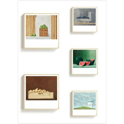 Light of Food-Blueberry Framed Printings Fruit Realistic Farm Country Bedroom Corridor Bedside Modern Wall Hanging Art