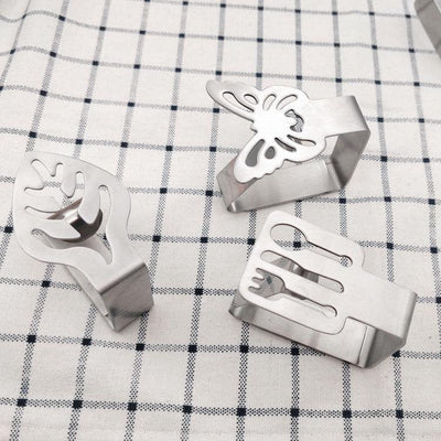 Tablecloth Clip Thickened Stainless Steel  Kitchen Tablecloth Fixing Clip Non-slip Dining Table Clip