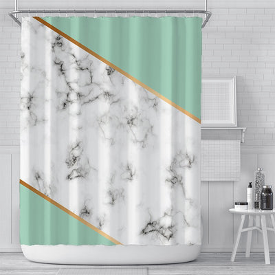 180x180cm Green Digital Printing Shower Curtain Waterproof Polyester Bathroom Curtain
