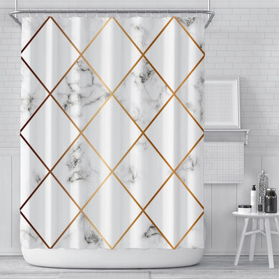 180x180cm Gorden Stripes Digital Printing Shower Curtain Waterproof Polyester Bathroom Curtain
